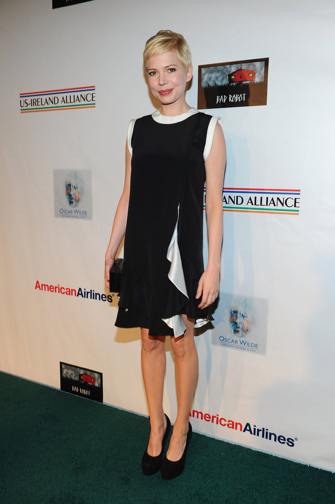 Michelle Williams hit the green carpet.