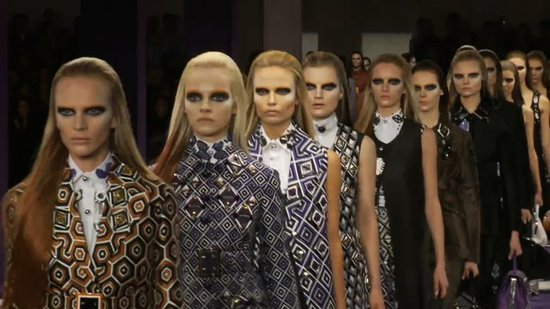 Watch the Entire Prada Fall 2012 Prints-Party Runway Show!