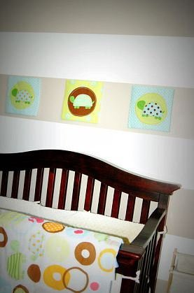 Lil Community: Rugby-Striped Baby Nursery Makeover