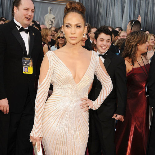 Jennifer Lopez's French Manicure at the Oscars 2012