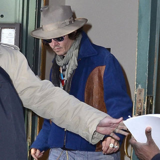 Johnny Depp Pictures Leaving NYC Meeting