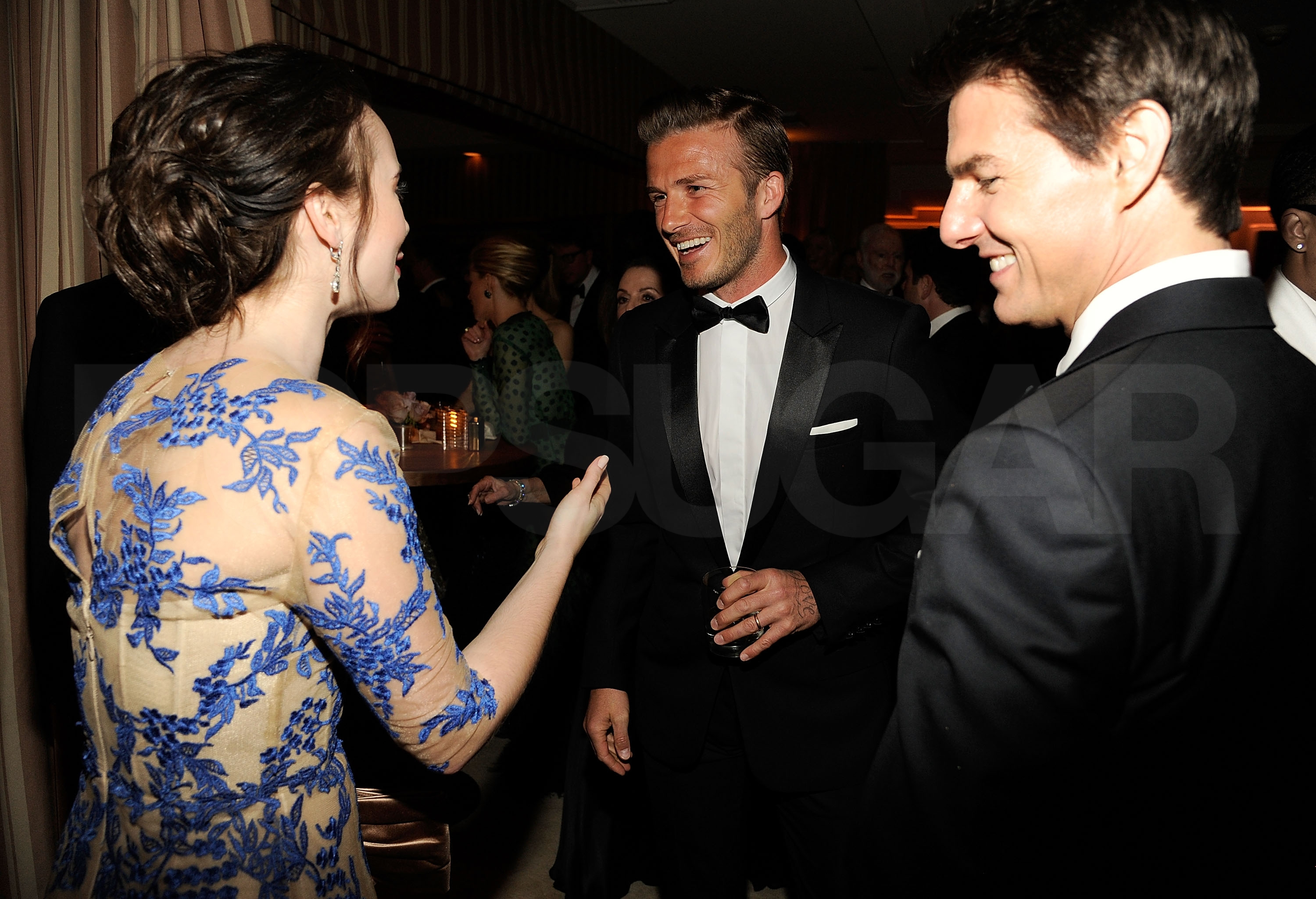 Lily Collins, David Beckham, Tom Cruise