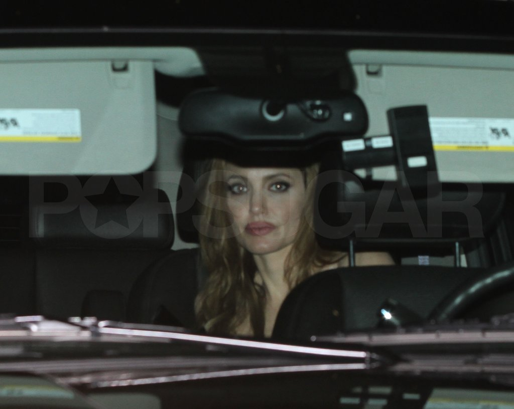 Angelina Jolie went home after an Oscars bash.