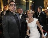 Gwyneth Paltrow and Robert Downey Jr. waited their turn to present at the Oscars.