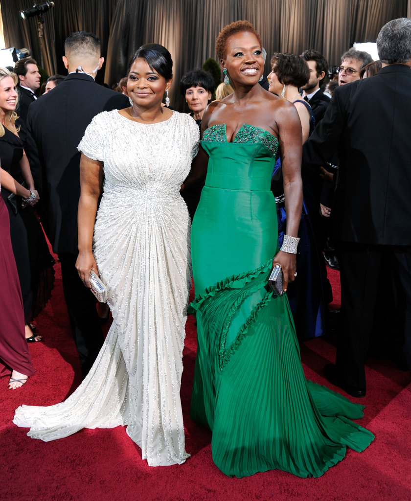 Octavia Spencer and her The Help costar Viola Davis took in the scene together.