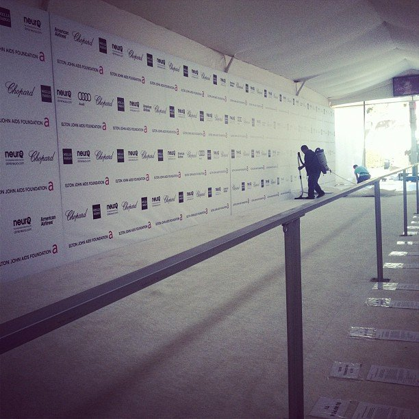 The white carpet was rolled out at Elton John's Oscars Viewing Party, where Pop editor Katie was on hand.
