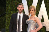 Amy Adams with husband Darren Le Gallo at the Vanity Fair Oscar party.