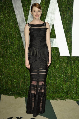 Emma Stone in Chanel at Vanity Fair.