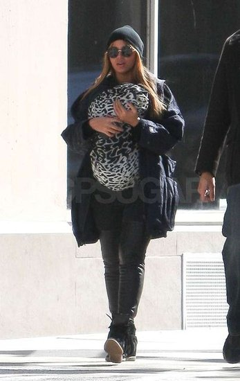 Beyoncé Bundles Up Baby Blue For a Second Public Outing