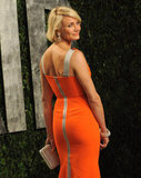 A back shot of Cameron Diaz's body-con gown — we love the sporty zipper detail.