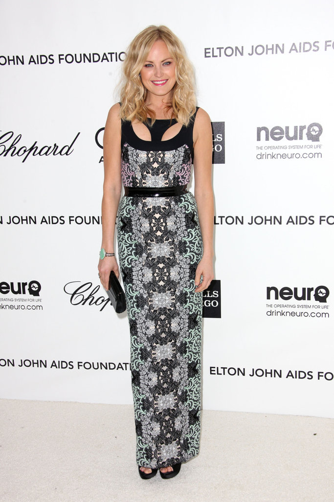 Malin Akerman channeled a sexy, sporty vibe in sleek, embellished Sportmax.