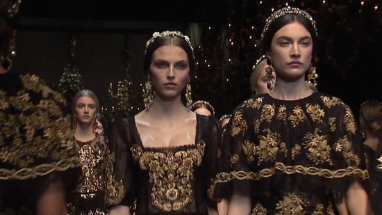 Watch Dolce & Gabbana's Entire Lacy Fall 2012 Runway Show!