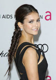 Nina Dobrev revealed a pretty pair of flower-shaped diamond studs.