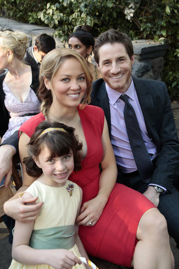 Savannah Page Rae as Sydney, Erika Christensen as Julia, and Sam Jaeger as Joel on Parenthood.