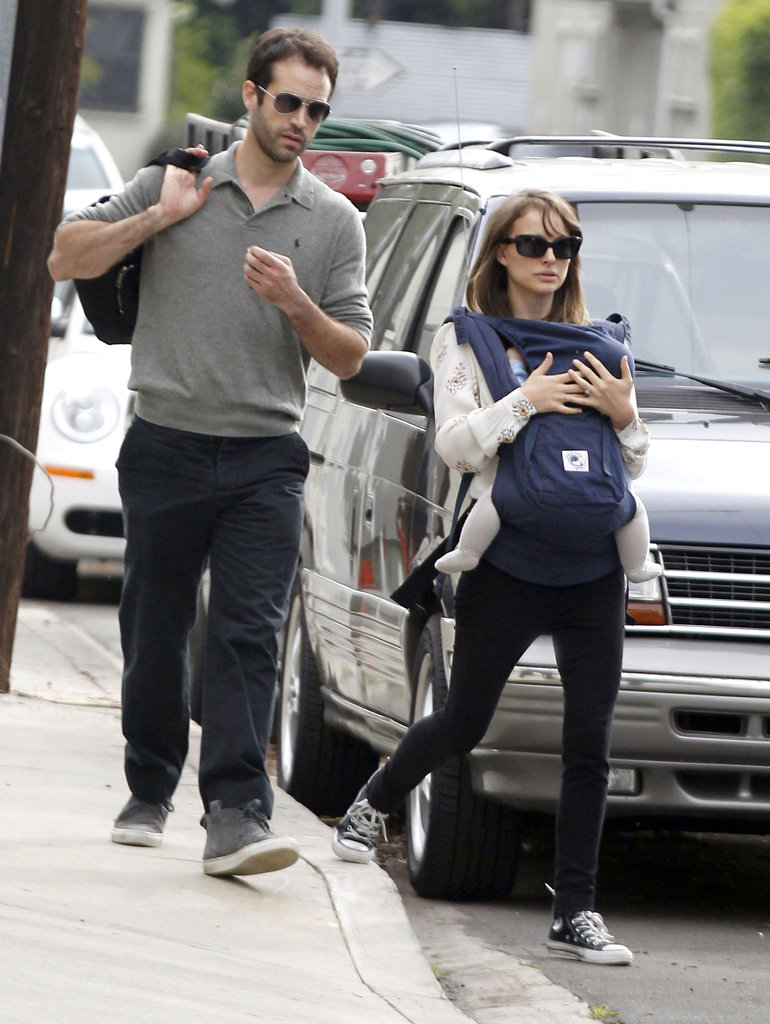 Natalie Portman and Benjamin Millepied took Aleph to meet friends in LA in January 2012.