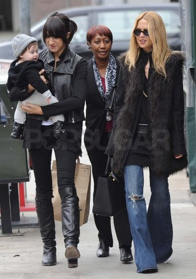 Mandana Dayani carried Skyler after lunch with Rachel Zoe.