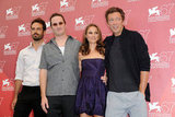 Benjamin Millepied, Darren Aronofsky, Natalie Portman and Vincent Cassel were together for a Black Swan photocall during the Venice Film Festival in 2010.
