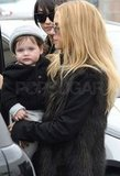 Rachel Zoe had Skyler in her arms in LA.