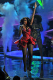 Jennifer Hudson had a little pep in her step on stage in 2011.