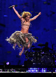 Shakira caught some air onstage during a NYC concert in 2010.