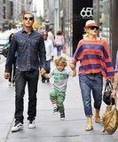 Gwen Stefani and Gavin Rossdale helped Kingston hop around NYC in 2010.