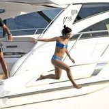 Lily Allen put one foot in front of the other for a 2009 dive off the side of a boat in St. Tropez.