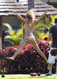 LeAnn Rimes flung herself into the air on a Hawaiian vacation in 2012.