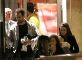 Natalie Portman and Benjamin Millepied dined out in Paris with son Aleph in September 2011.