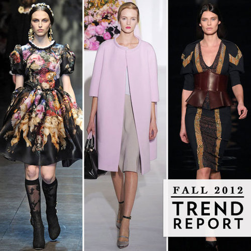 The Top Runway Trends From 2012 A/W Milan Fashion Week: Peplum, Military, Metallics & More!