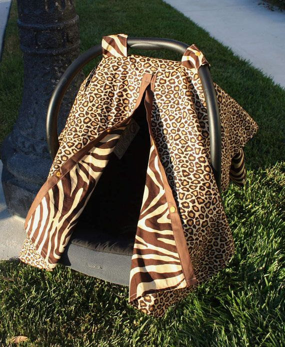 NotyBaby Reversible Car Seat Canopy in Safari Zebra and Cheetah ($44)