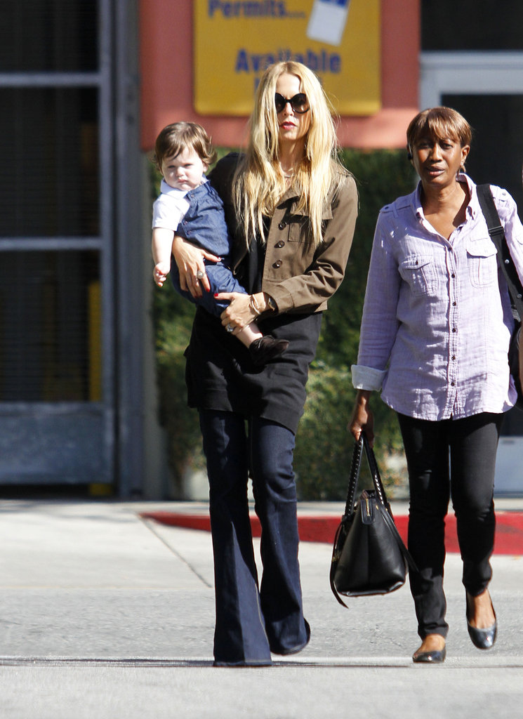 Rachel Zoe and her son, Skyler, did lunch in LA Monday.