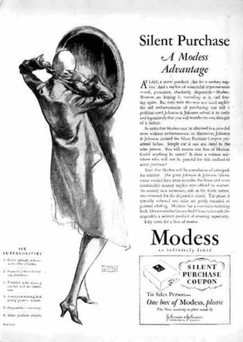 Modess: the silent purchase.