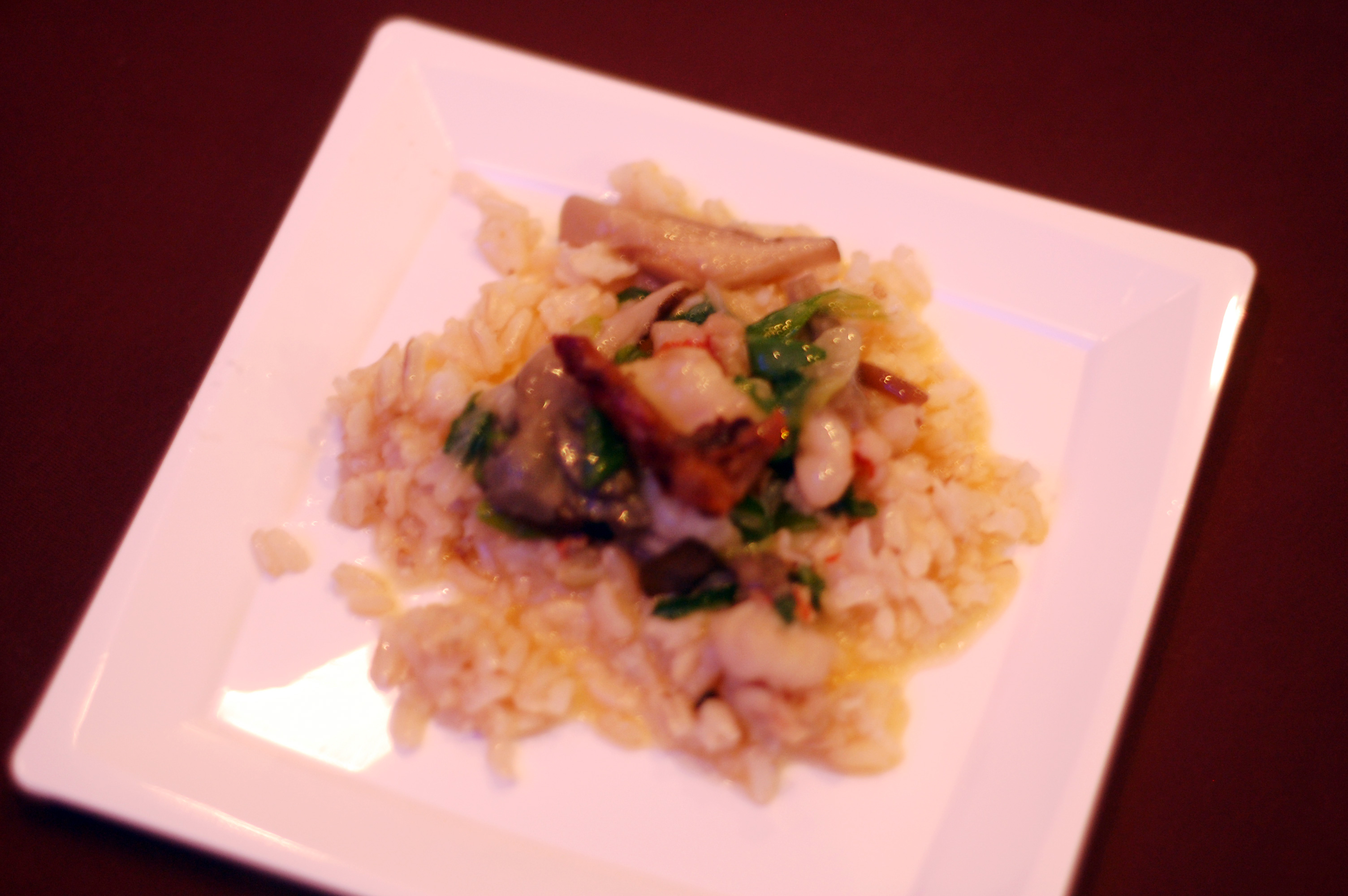 Florida Rock Shrimp With Buttered Rice, Duck Cracklings