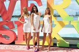 Adriana Lima, Erin Heatherton, and Candice Swanepoel struck a pose.