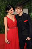 Justin Bieber and Selena Gomez got glamorous for Vanity Fair's February 2011 Oscar party in LA.