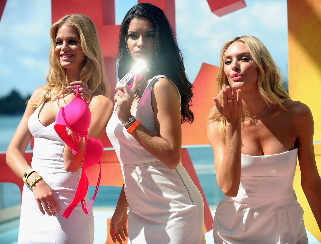 Adriana Lima, Erin Heatherton, and Candice Swanepoel worked together.