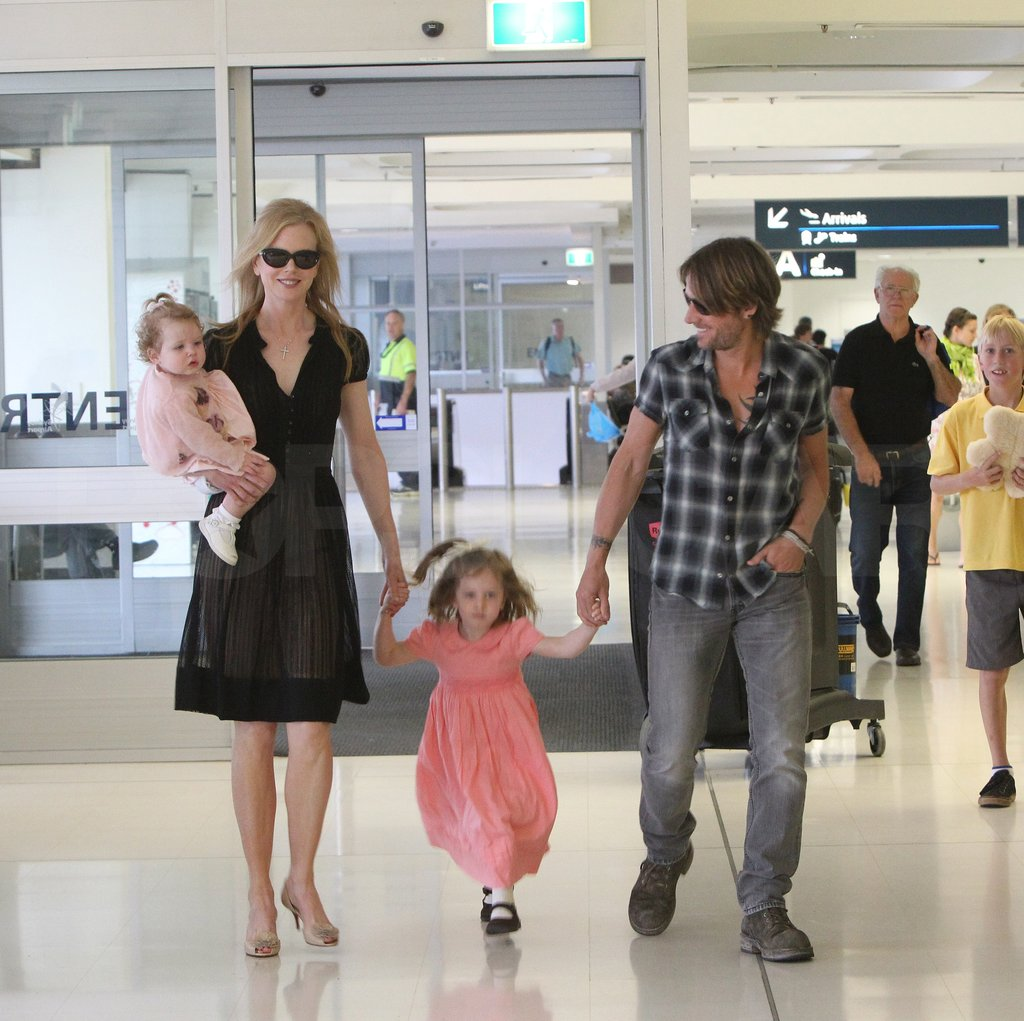 Nicole Kidman and Keith Urban took off with their daughters.