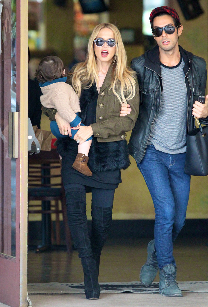 Rachel Zoe and Skyler Berman met Joey Maalouf for lunch.