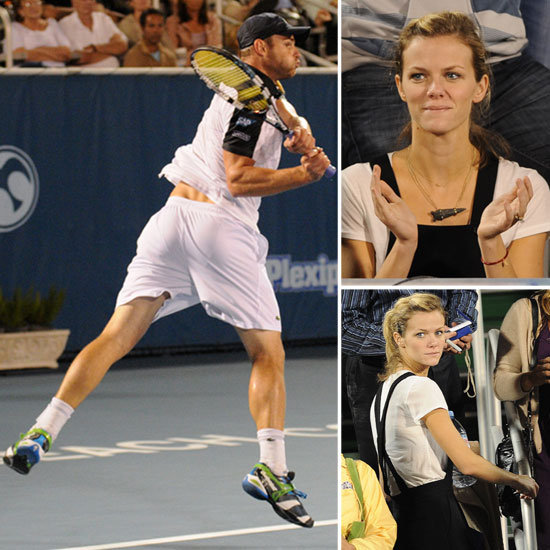Brooklyn Decker Goes Casual to Cheer Andy Roddick on to a Win