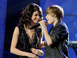 Selena Gomez and Justin Bieber shared the stage during the 2010 Dick Clark's New Year's Rockin' Eve in Las Vegas.