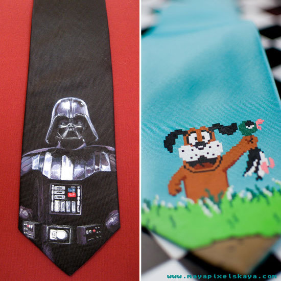 Hand-Painted Ties Fit For A Geek's Closet