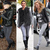 Kate Moss Style in Her Grey Jeans