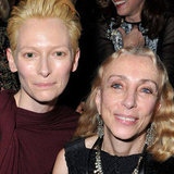 Tilda Swinton and Francesca Sozzani at Lanvin