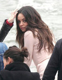 Mila Kunis at a photoshoot in Paris.
