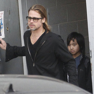 Brad Pitt at Guitar Center in LA With Maddox Pictures