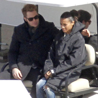 Zoe Saldana and Chris Pine Filming Star Trek 2 Pictures