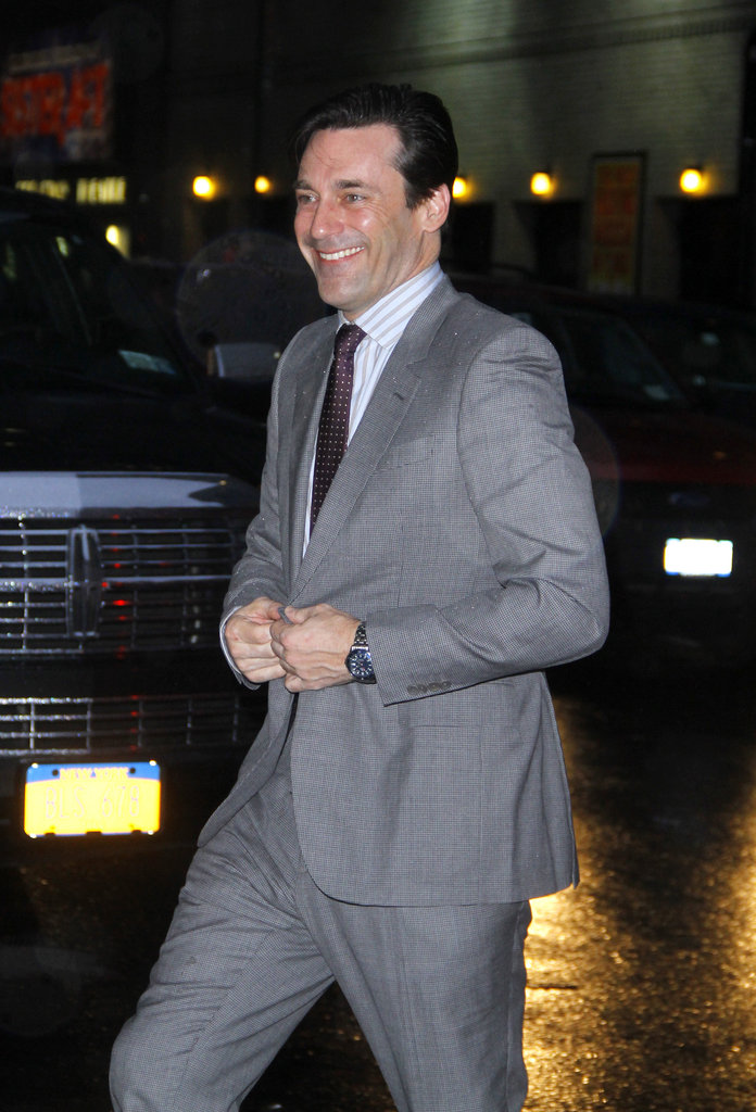 Jon Hamm in a suit.