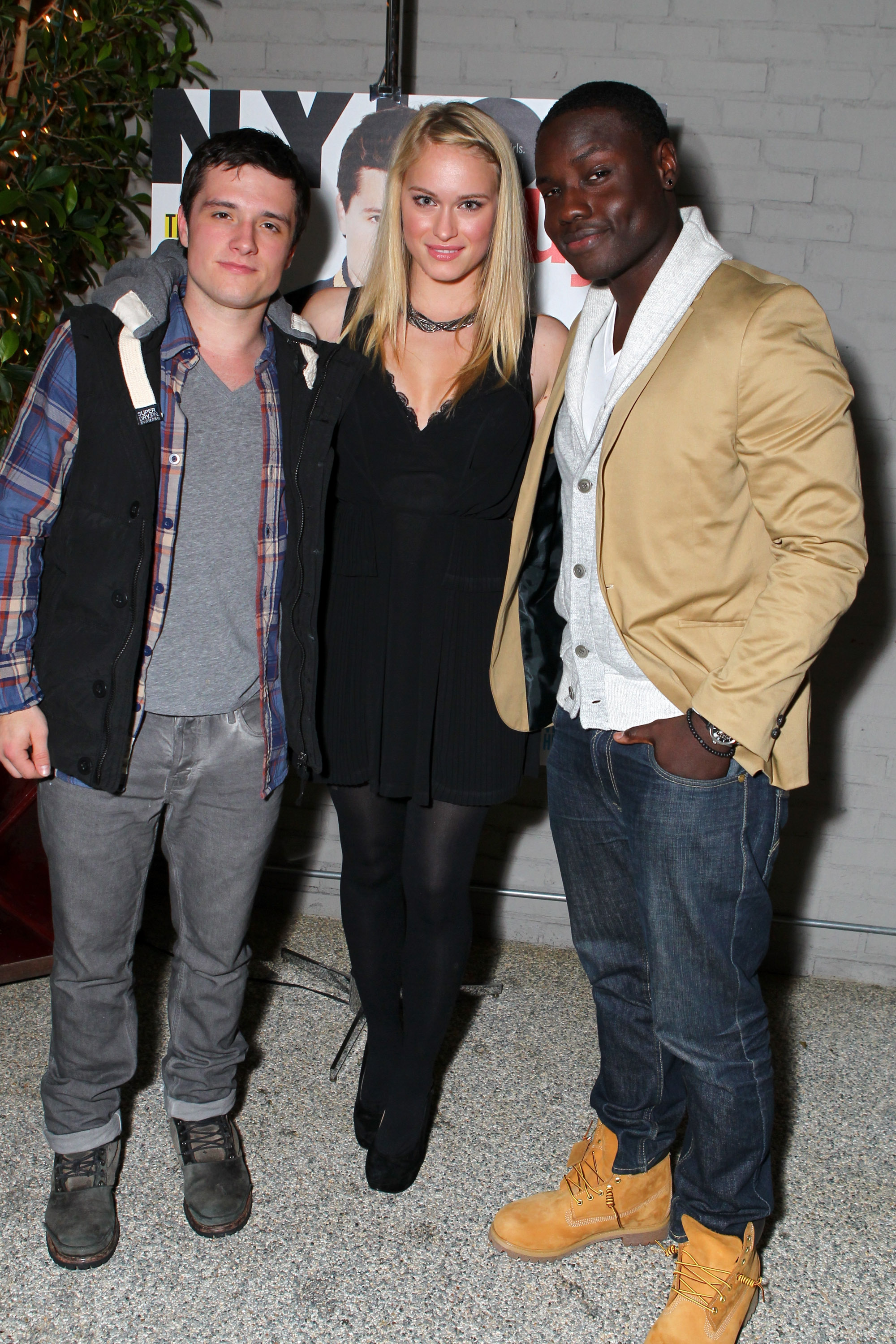 Dayo Okeniyi and Leven Rambin dined with Josh Hutcherson.