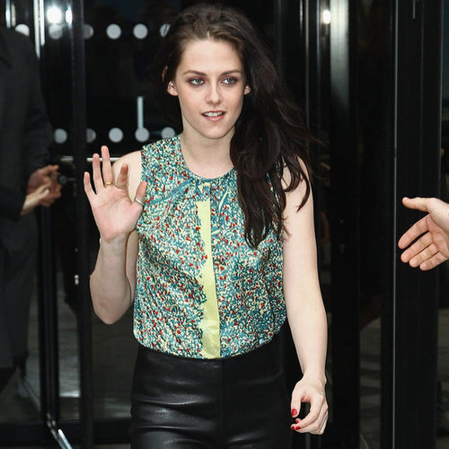 Kristen Stewart Front Row Balenciaga Pictures at Paris Fashion Week