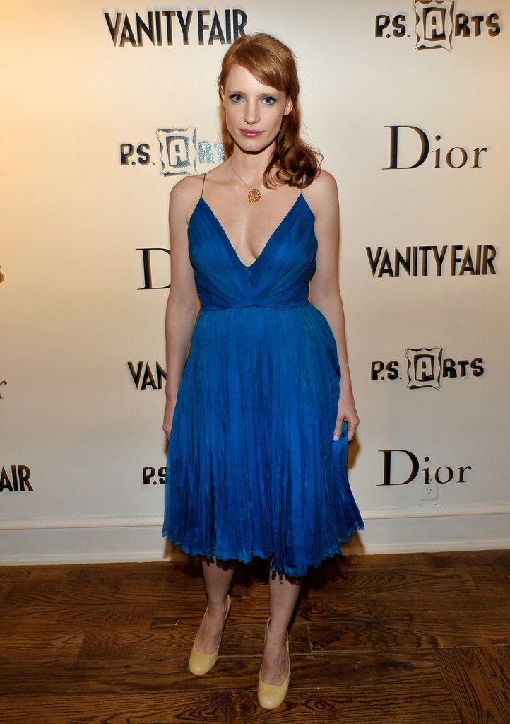 A pretty blue Dior at Christian Dior event in March 2010.